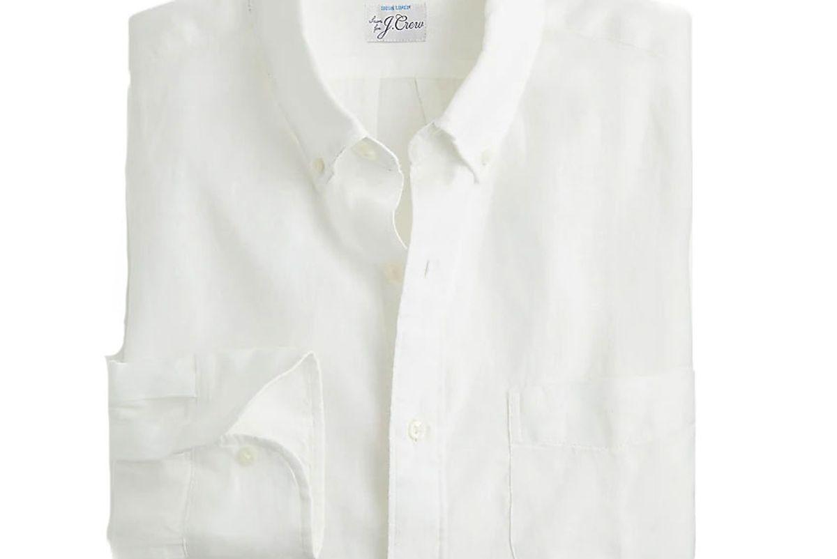 jcrew slim baird mcnutt irish linen shirt