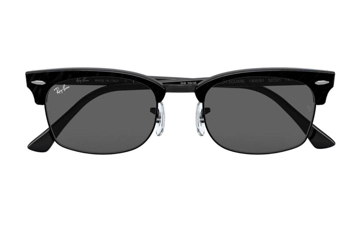 ray ban clubmaster 52mm rectangular sunglasses