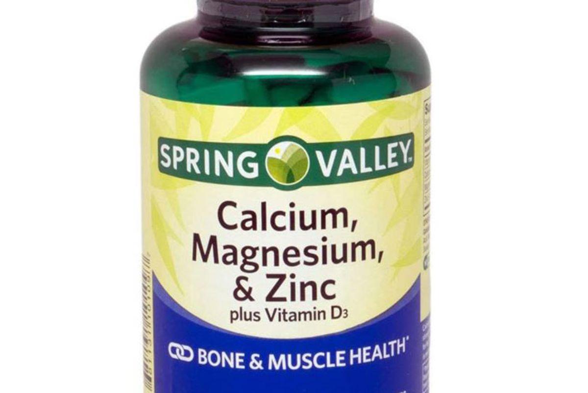 spring valley calcium magnesium and zinc plus vitamin d3