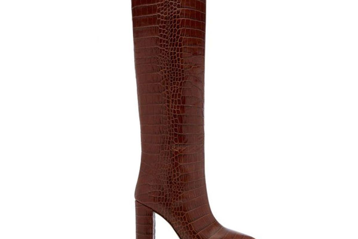 paris texas croc embossed leather knee boots