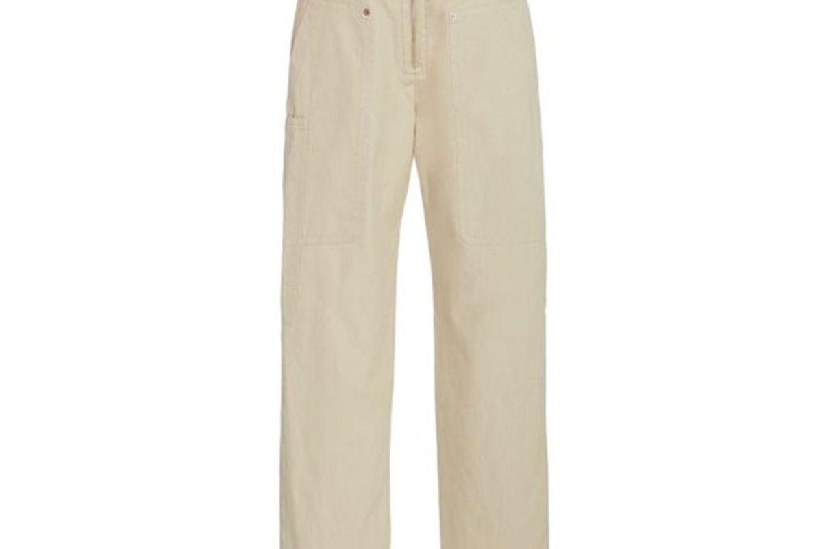 isabel marant etoile phil cotton blend straight leg pants