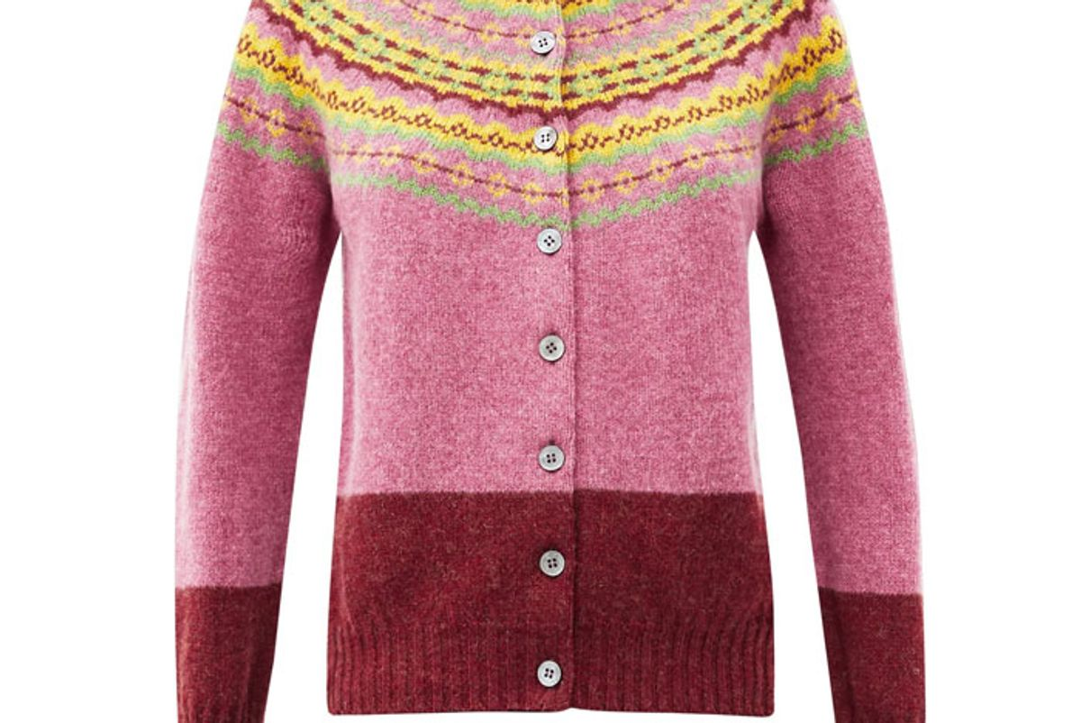 molly goddard timmy fair isle wool cardigan