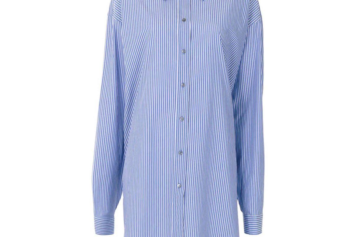 n21 pinstriped shirt dress