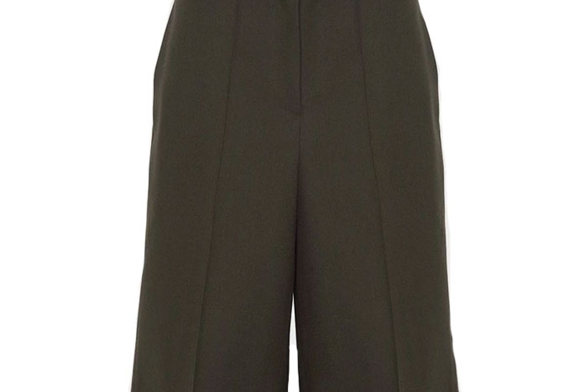 the frankie shop tailored pressed crease trouser shorts