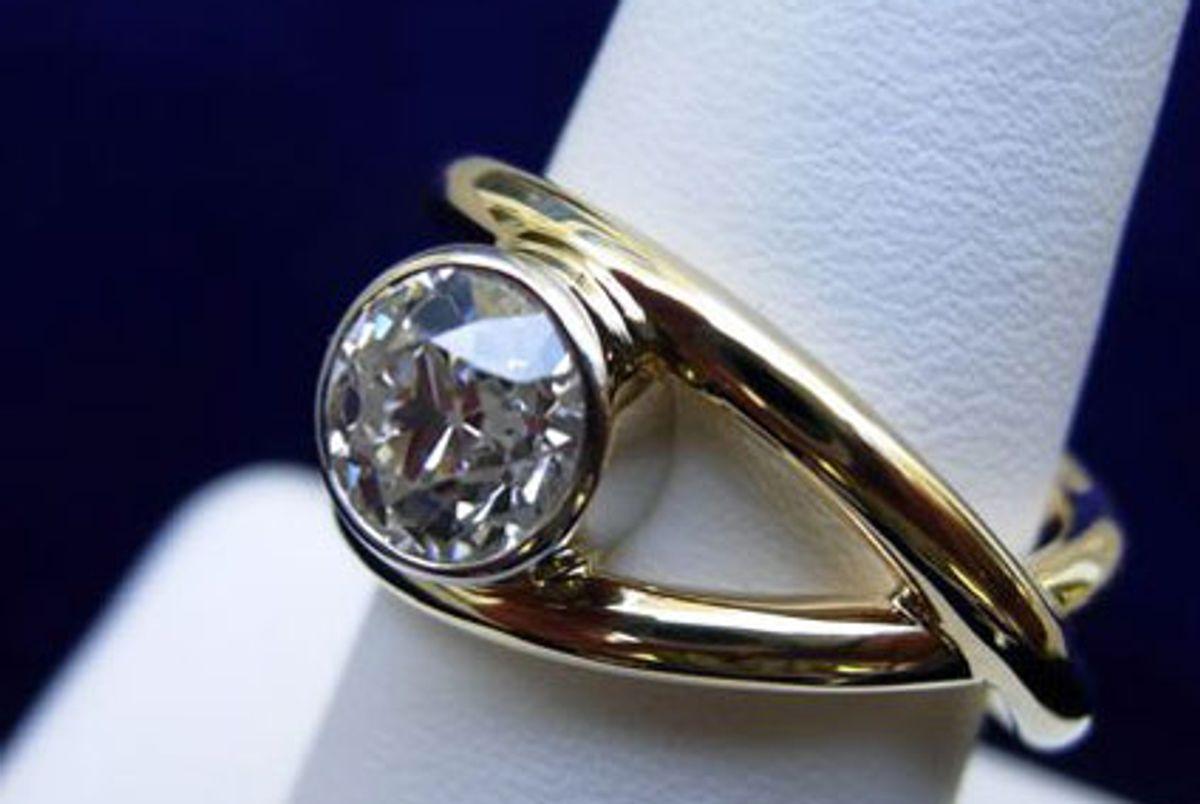 david crandall custom 18k yellow gold pinky ring