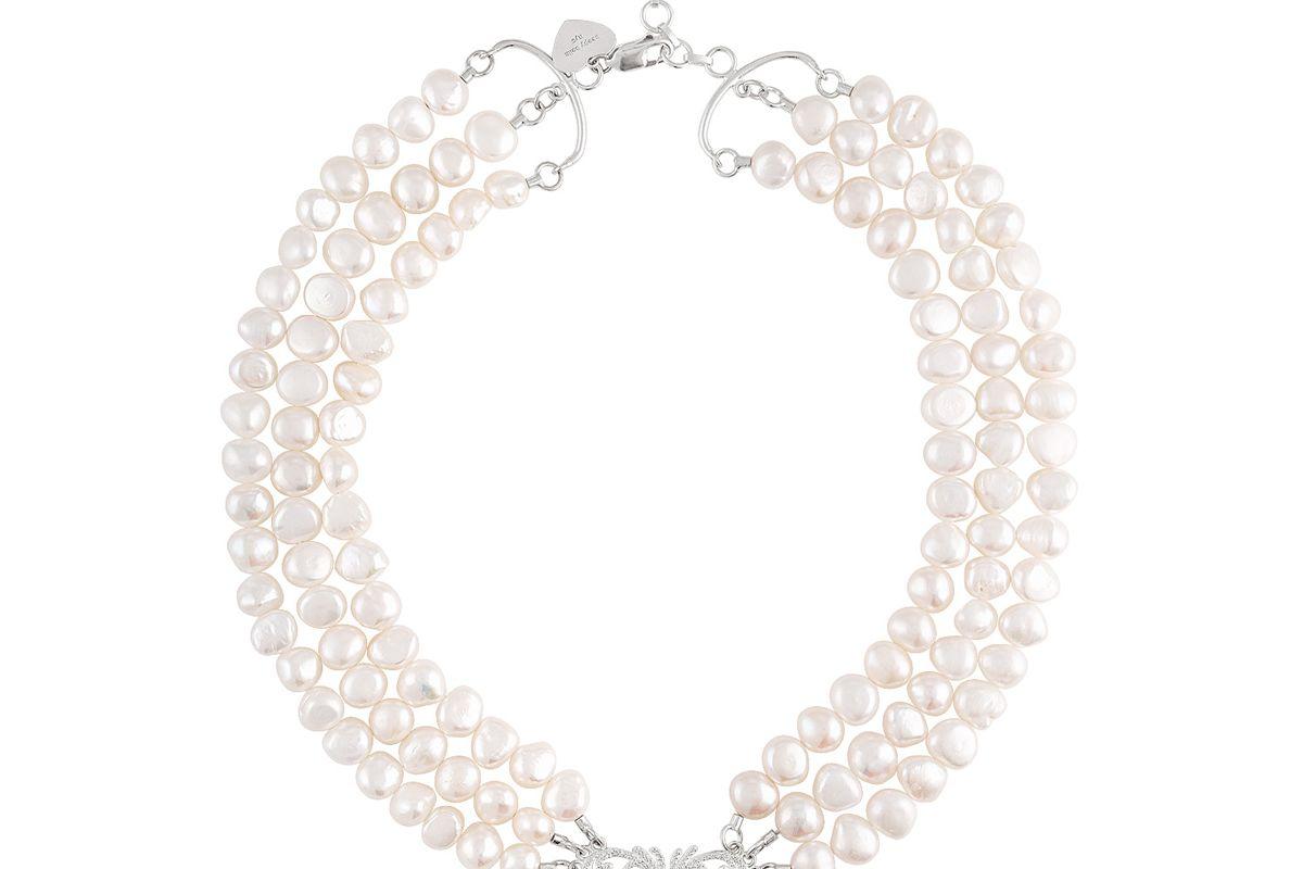 beepy bella triple strand necklace