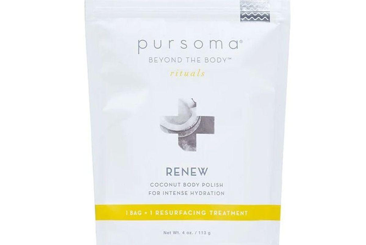 pursoma renew coconut body polish