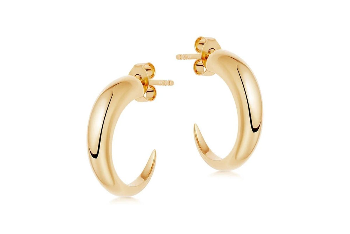 missoma gold medium plain claw hoop earrings