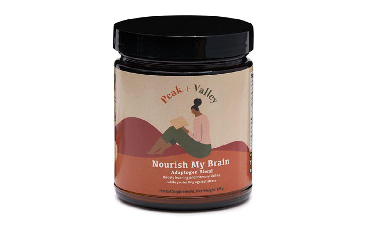 peak and valley nourish my brain blend