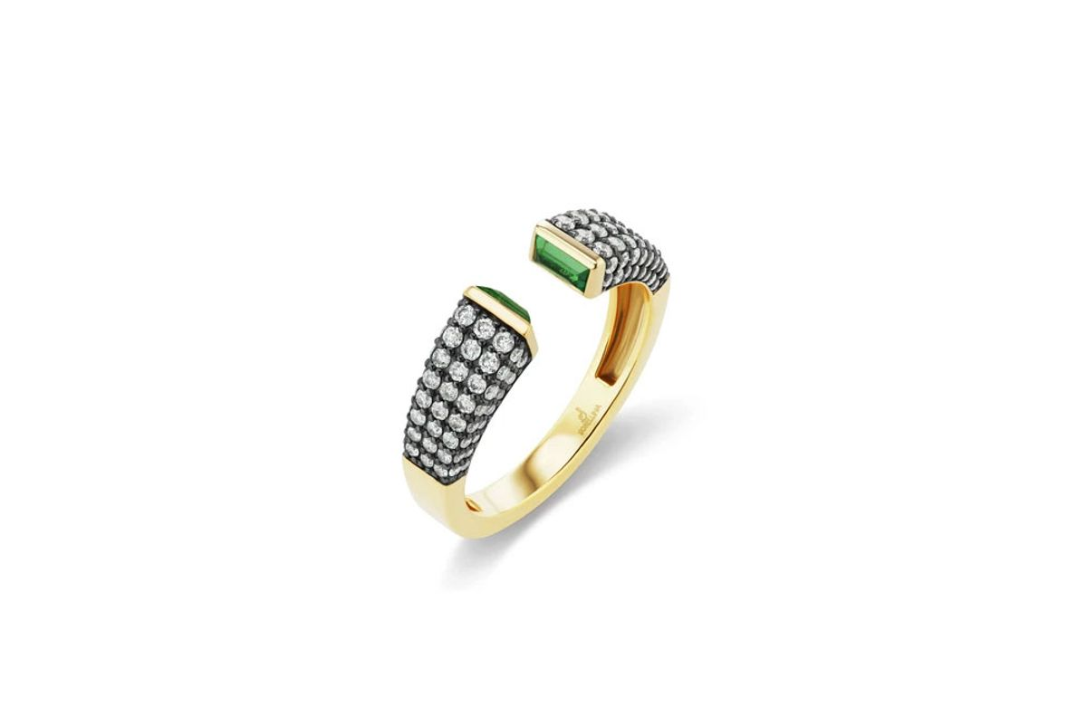 sorellina stx and stone pave open ring