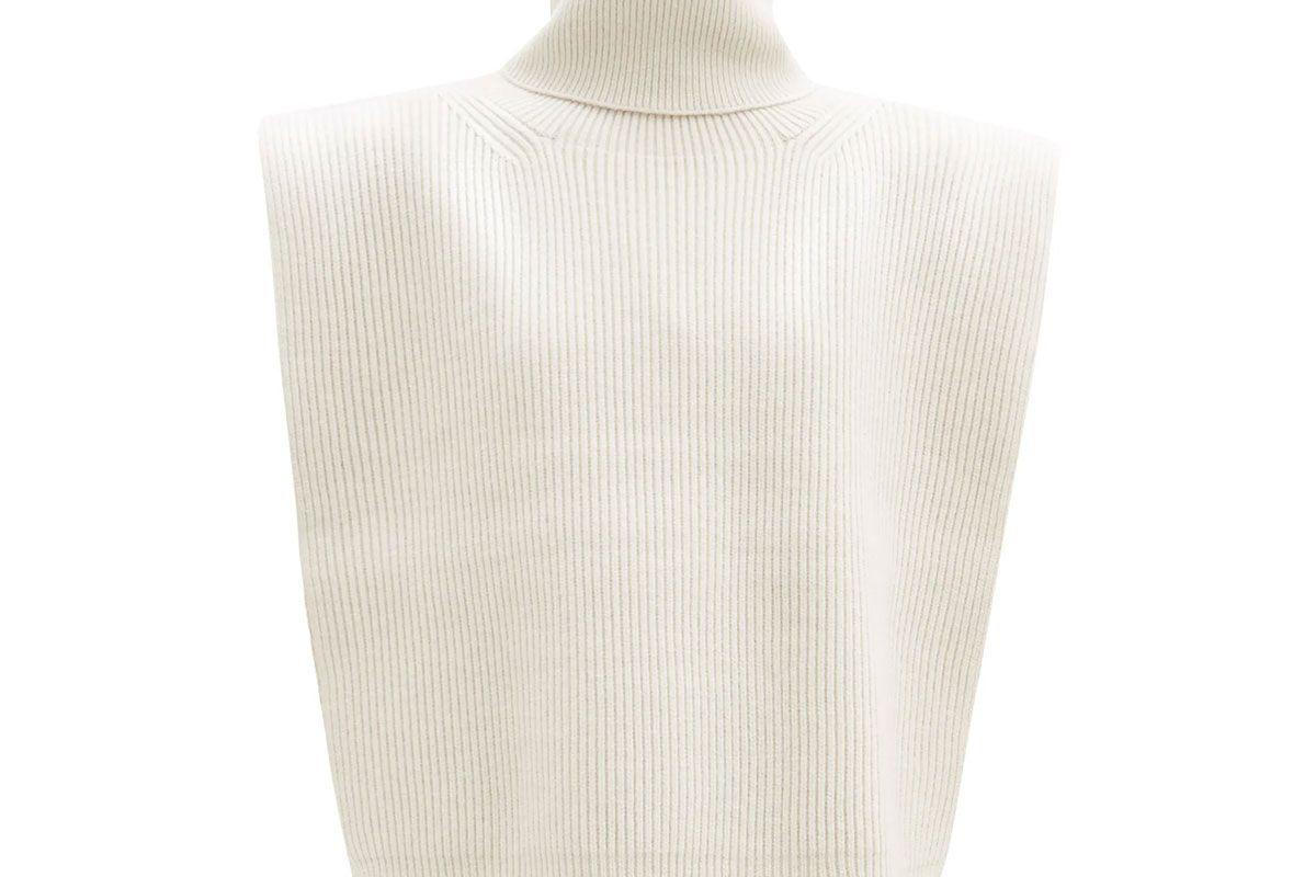 toteme roll neck wool blend bib