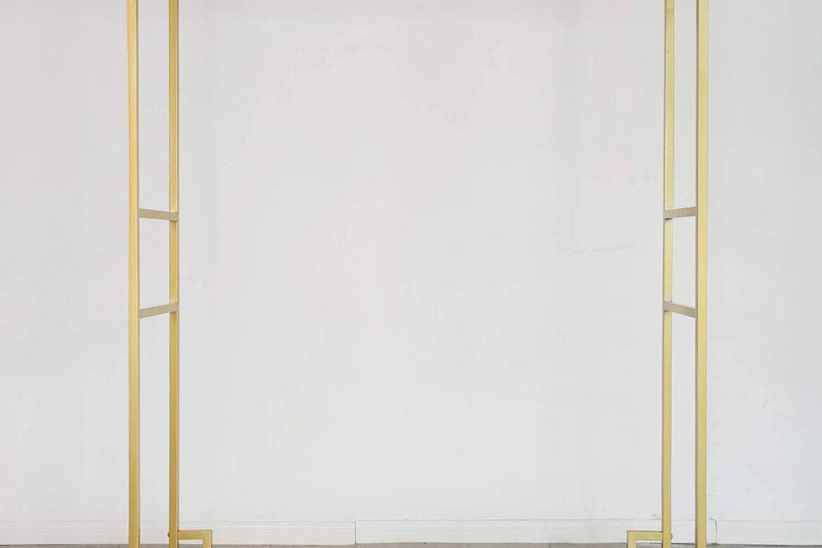yixinhome double rod gold garment rack
