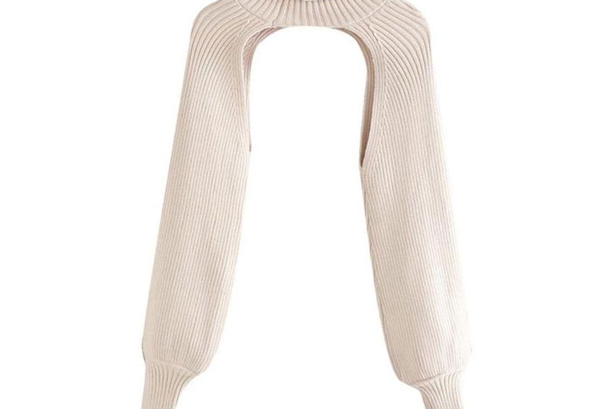 zahria cutout super cropped sweater