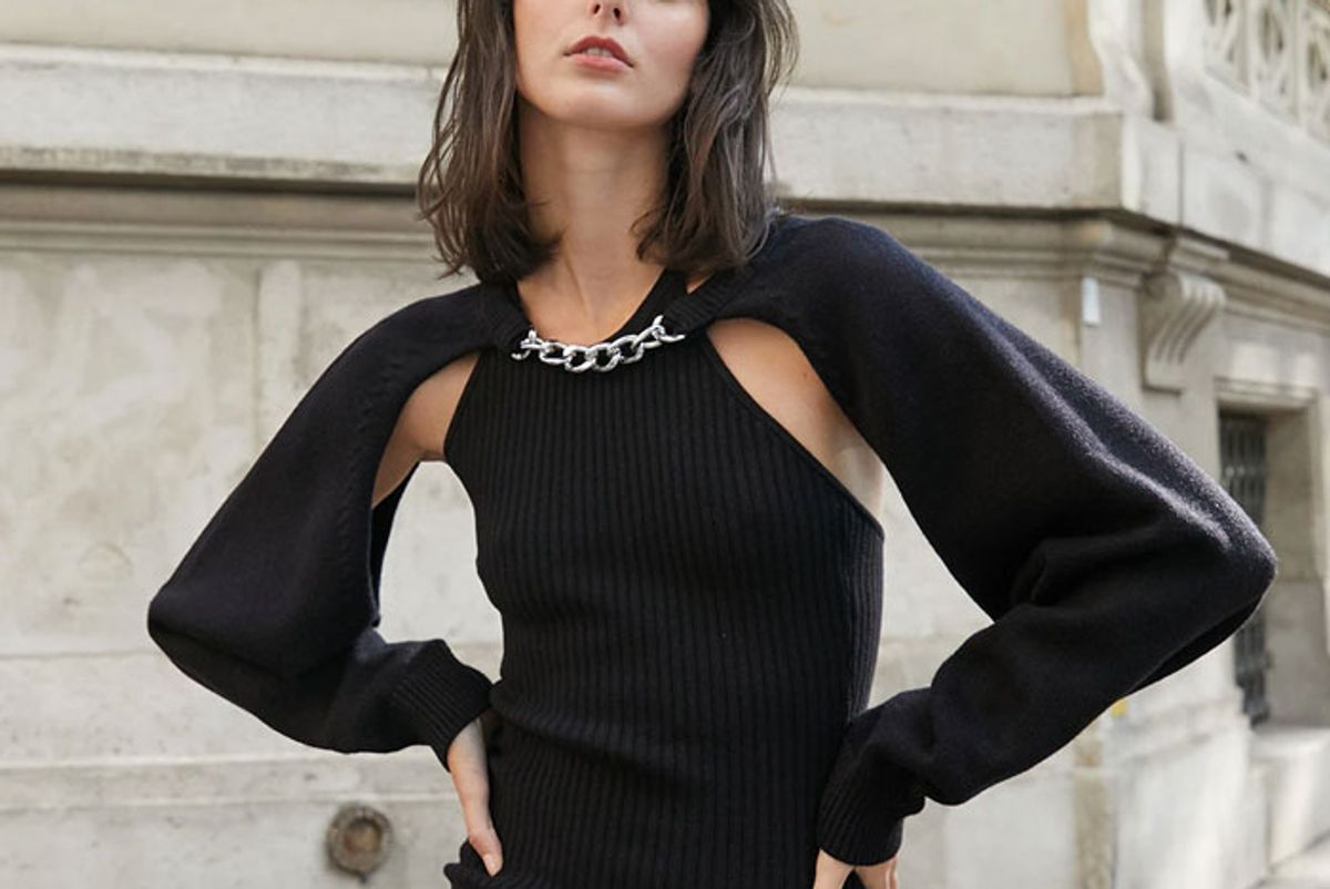 pixie market chain link knit bolero