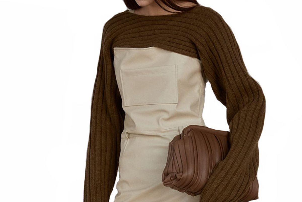 source unknown crop wool ribbed sweater