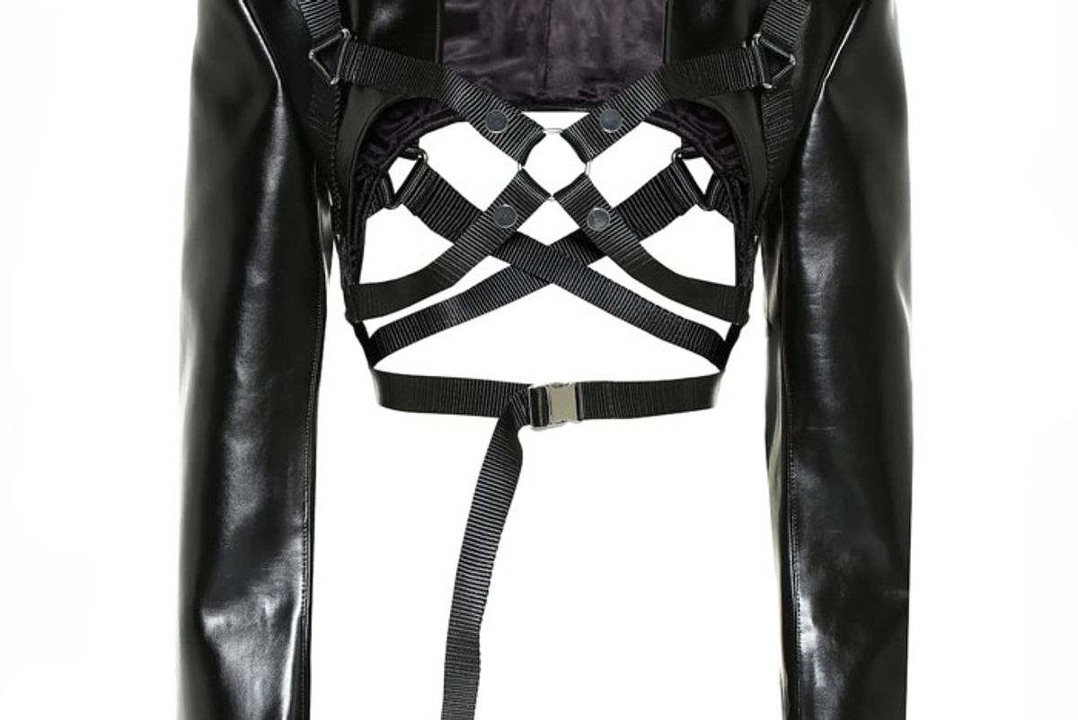 junya watanabe faux leather shrug