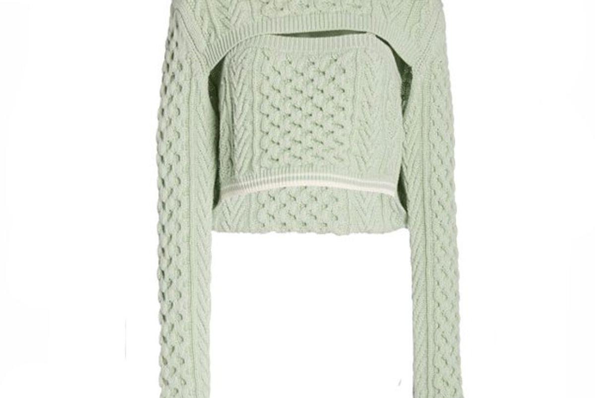 rosie assoulin thousand in one ways wool cotton sweater
