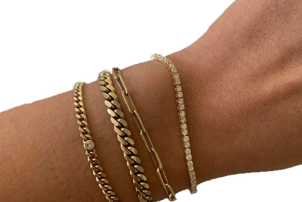 kinn diana diamond tennis bracelet