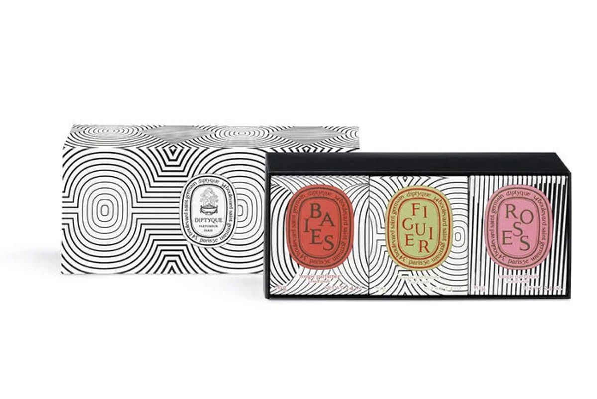 diptyque set of 3 candles graphic collection
