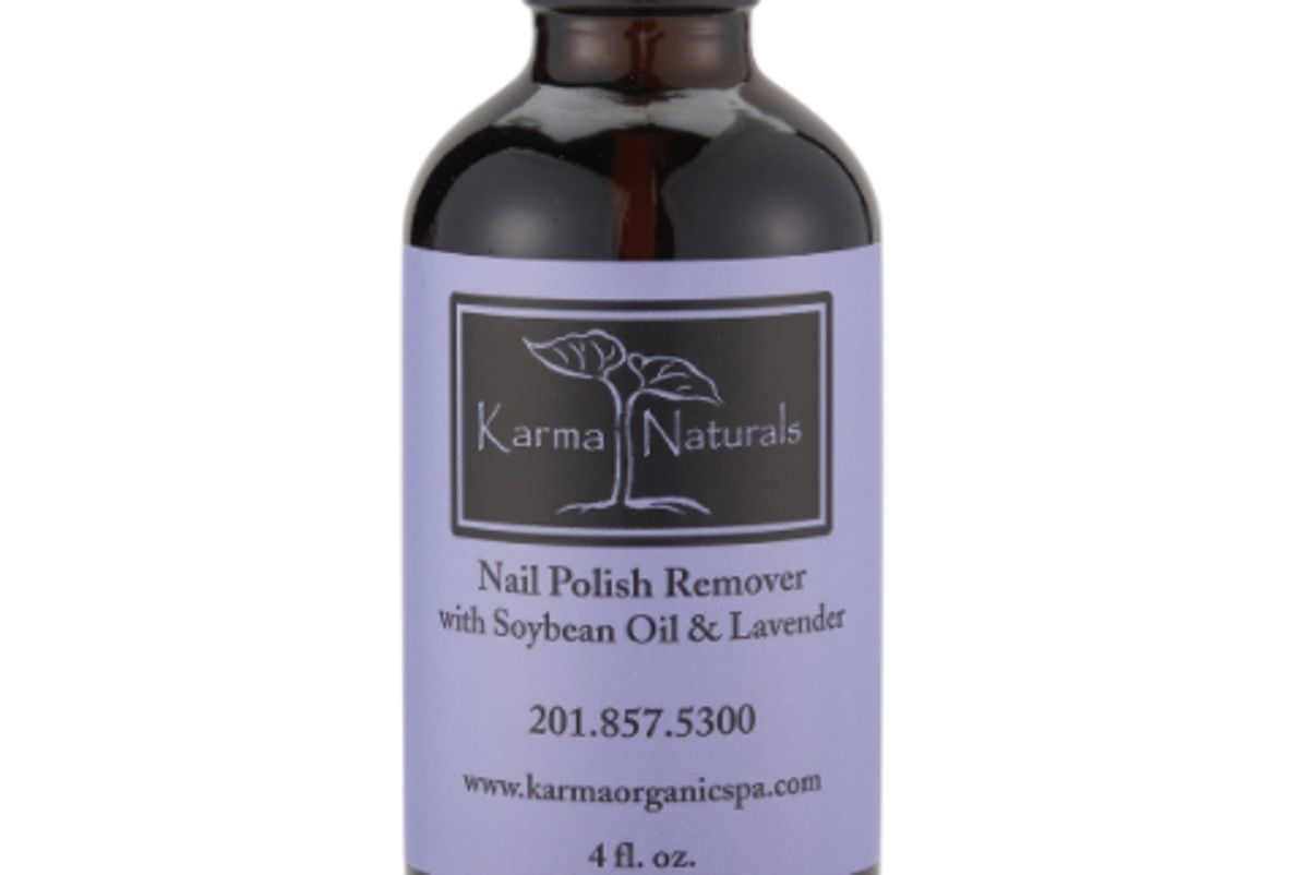 karma organic soybean oil and lavender nail polish remover