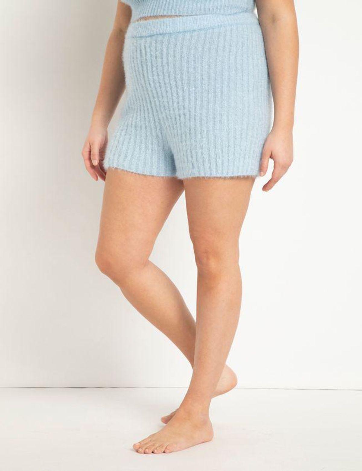 Fuzzy Sweater Shorts