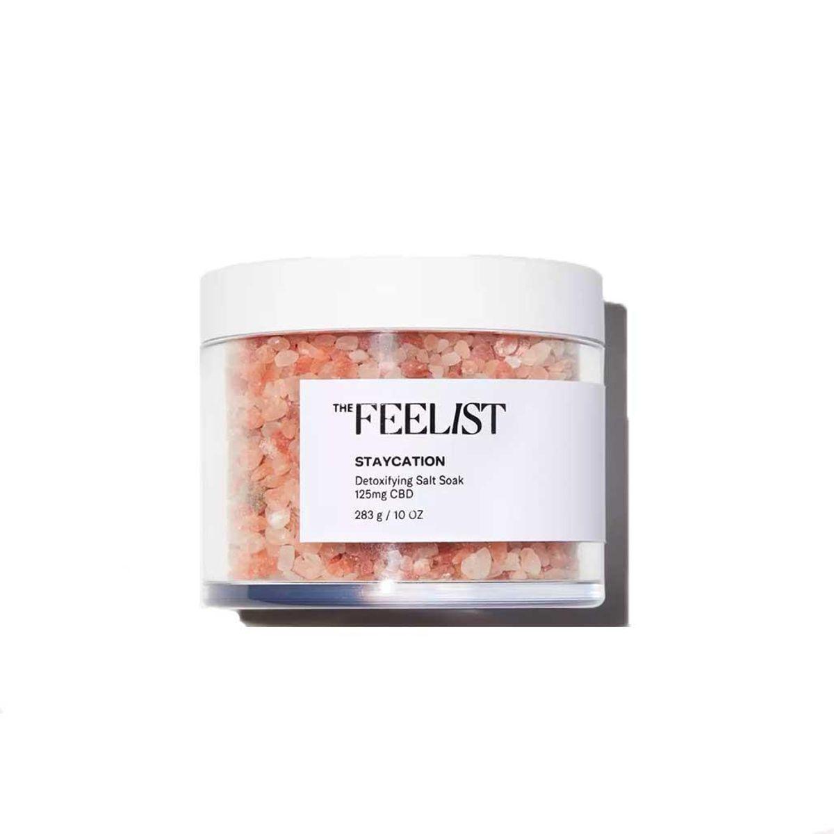 the feelist staycation detoxifying salt soak