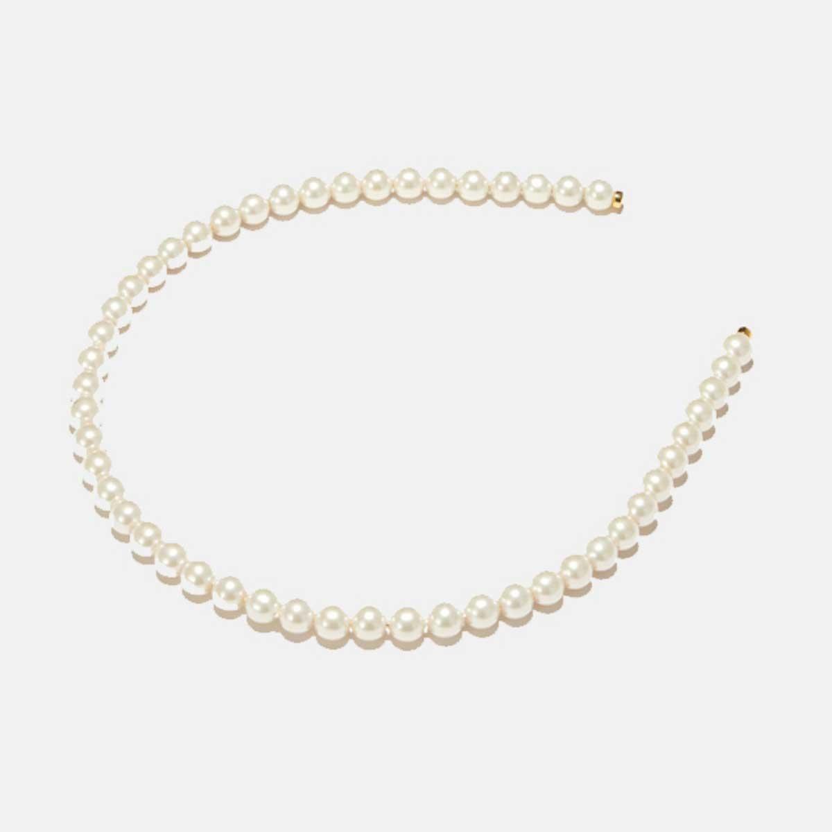 lele sadoughi pearl strand headband