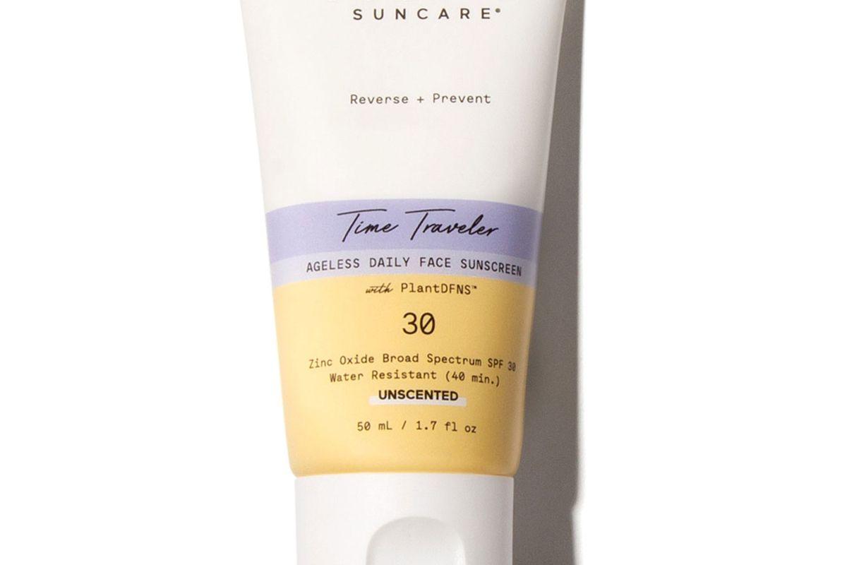 solara suncare time traveler ageless daily face sunscreen