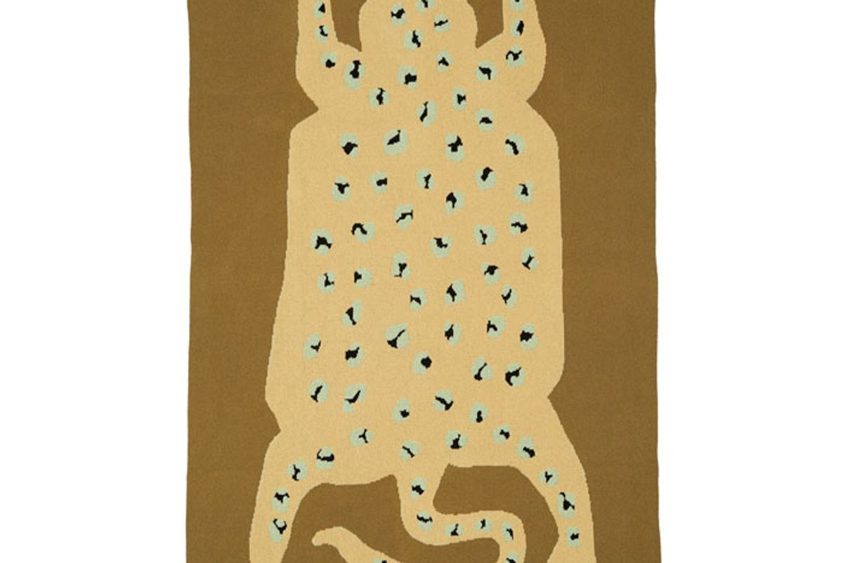 cold picnic earth leopard knit blanket