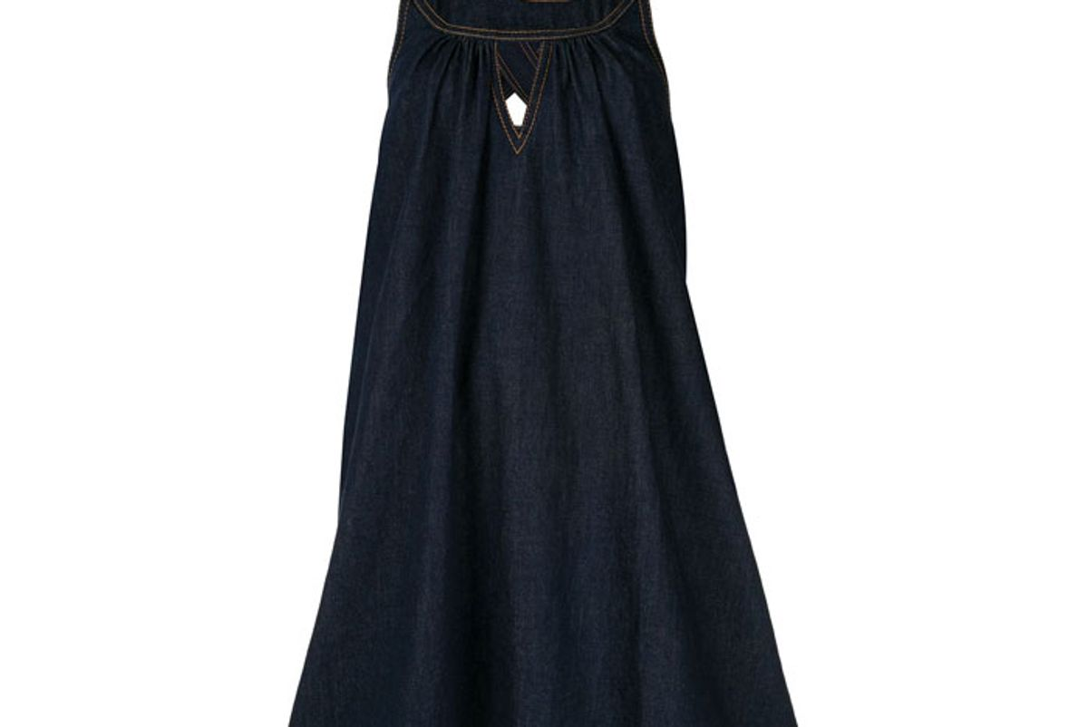 karen walker cascade denim dress