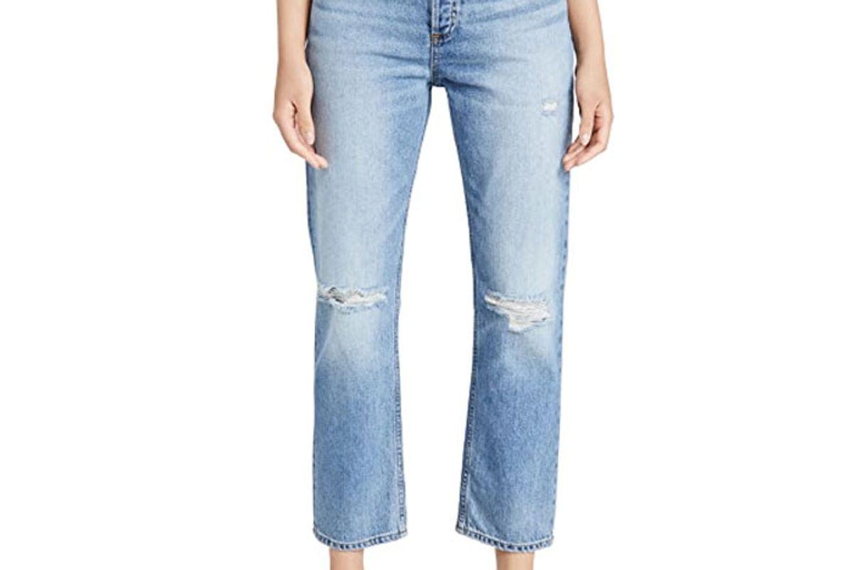 askk ny high rise straight jeans