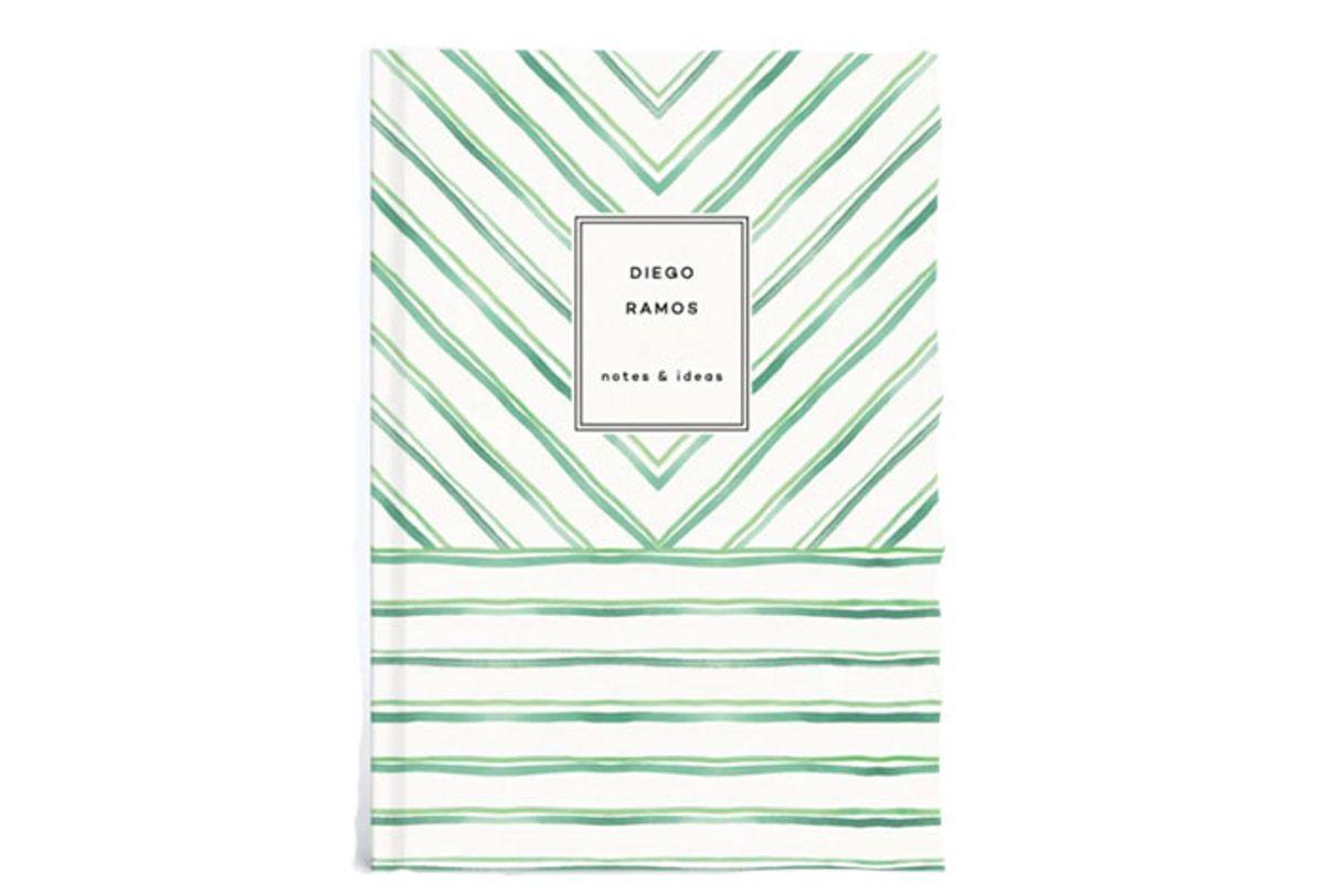 rosie assoulin x papier painted pinstripes notebook