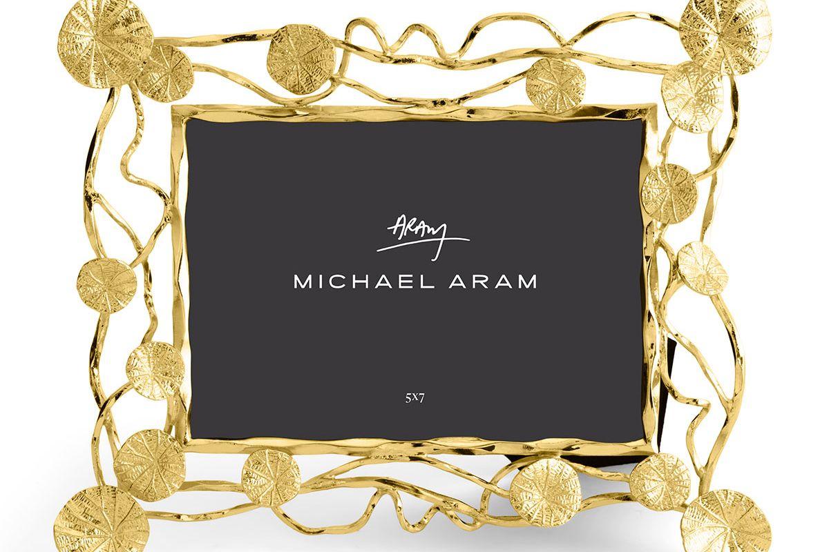 michael aram monets garden sunrise frame