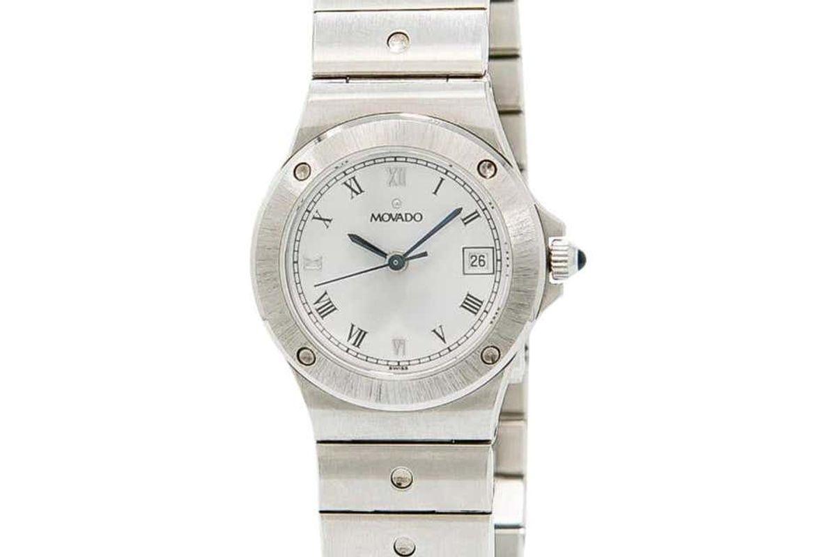 movado vintage 3989469 white dial
