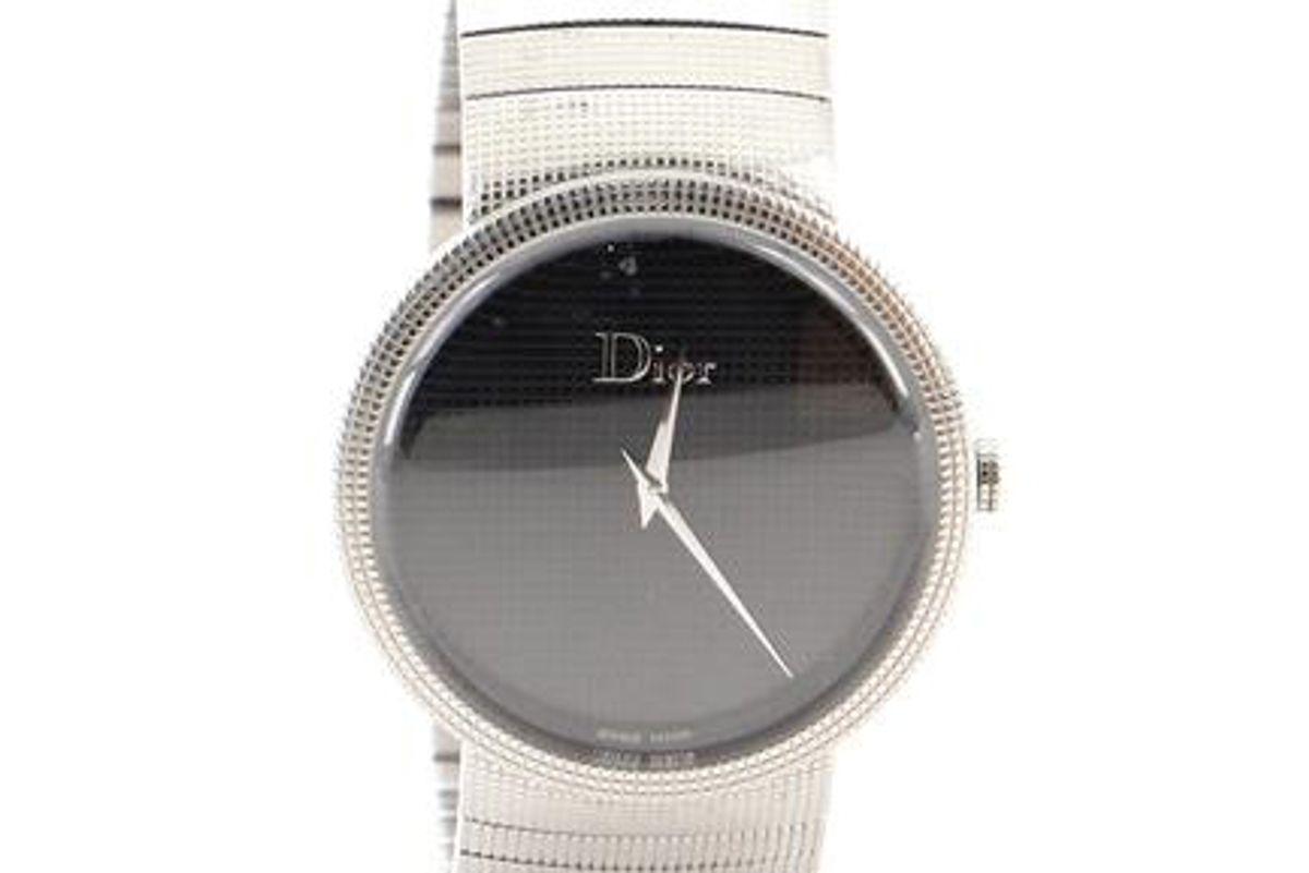 christian dior la d de dior quartz stainless steel 38 watch