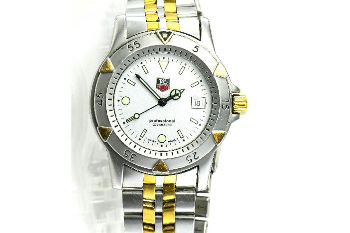 tag heuer wd1221 two tone watch