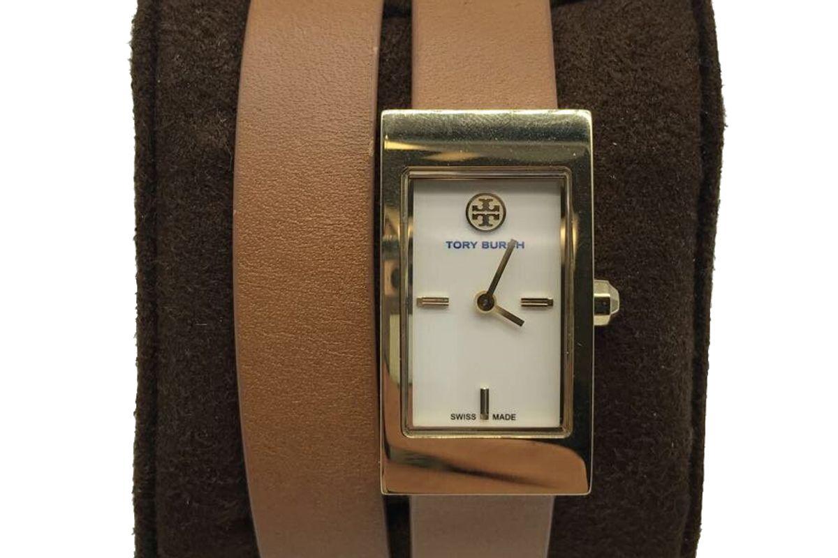 tory burch leather wrap watch