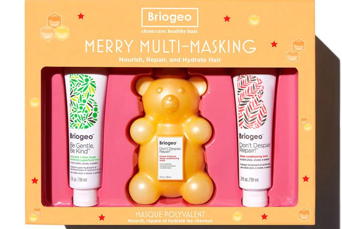 briogeo merry multi masking kit ft don't despair repair deep conditioning honey bear hair mask