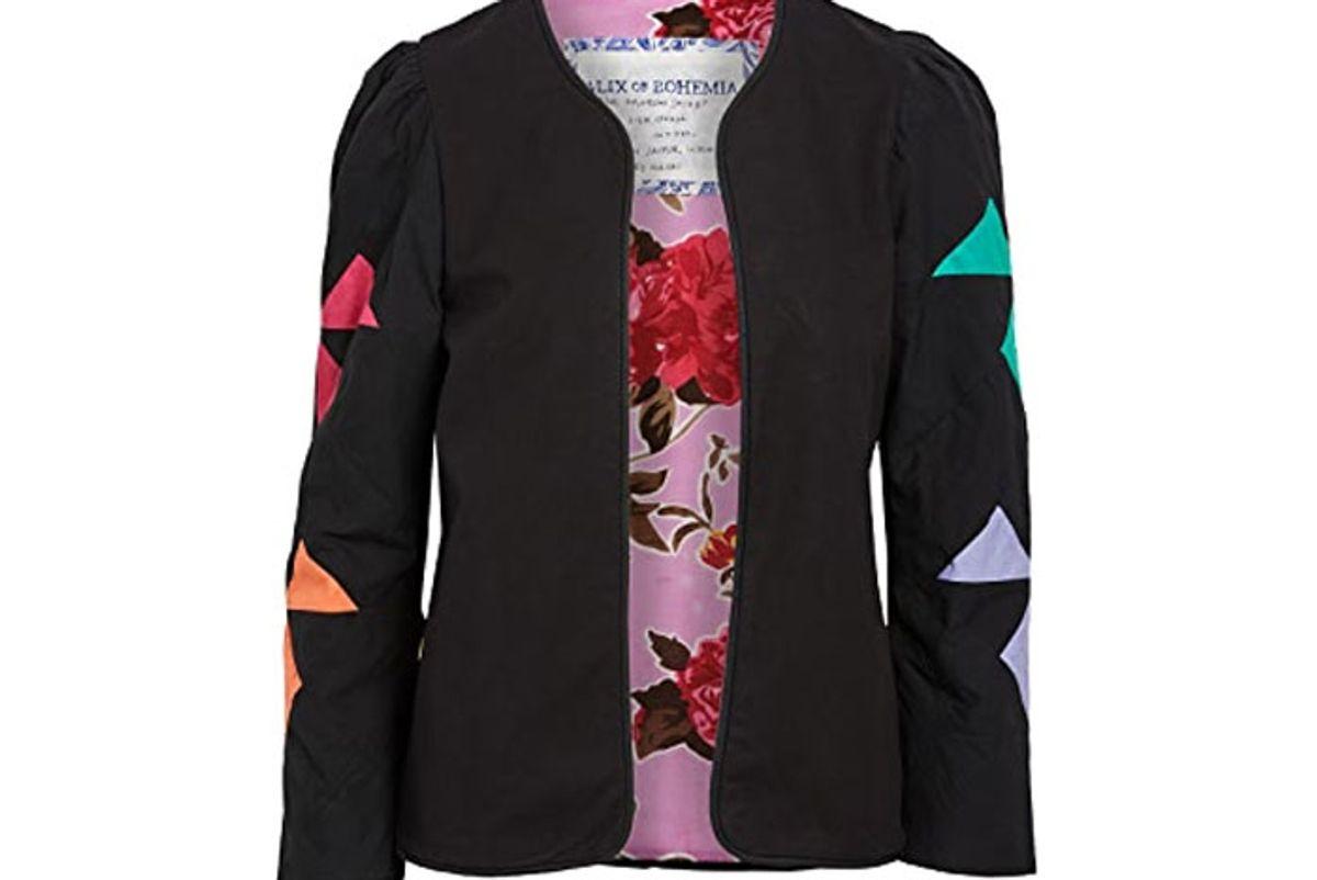alix bohemia edie rainbow quilt jacket