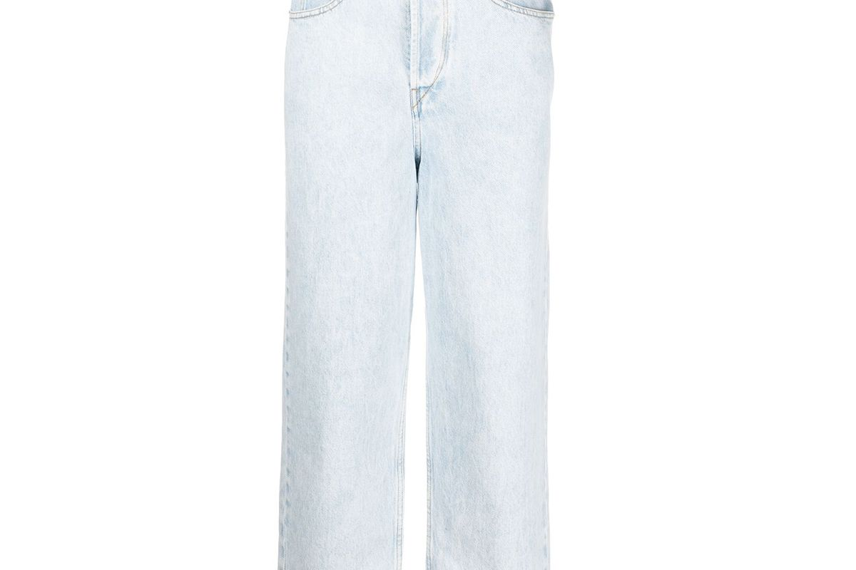 isabel marant etoile high rise cropped jeans