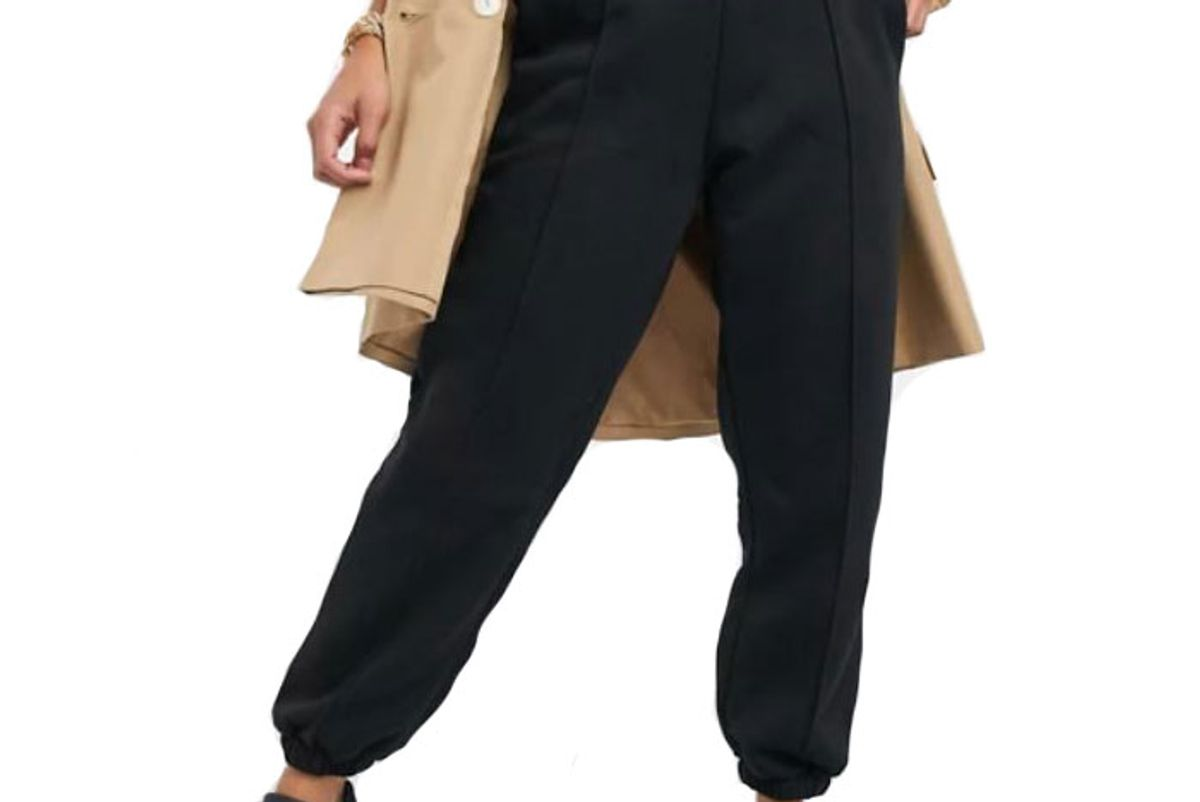 asos petite oversized sweatpants pintuck