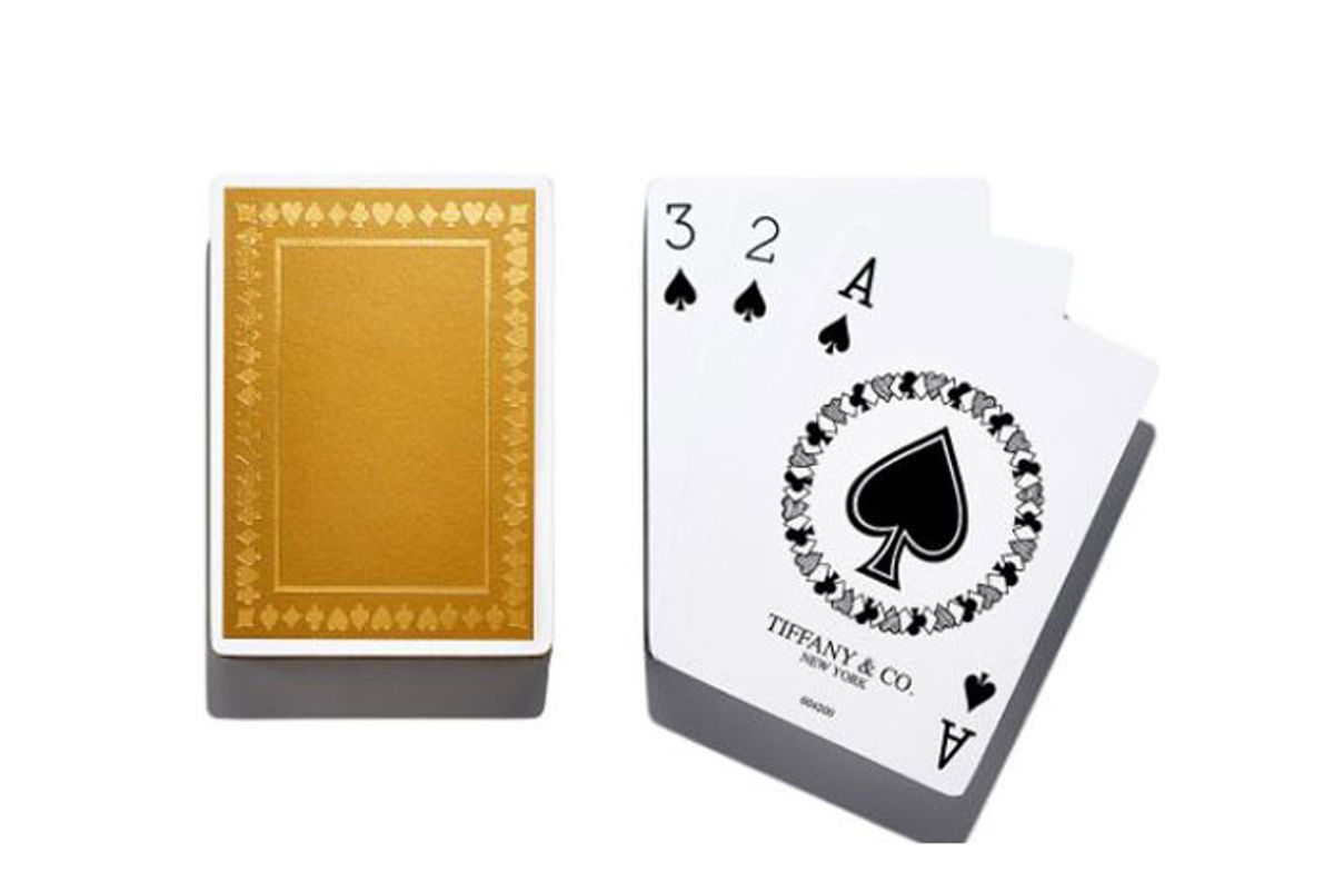 tiffany and co metallic playing cards