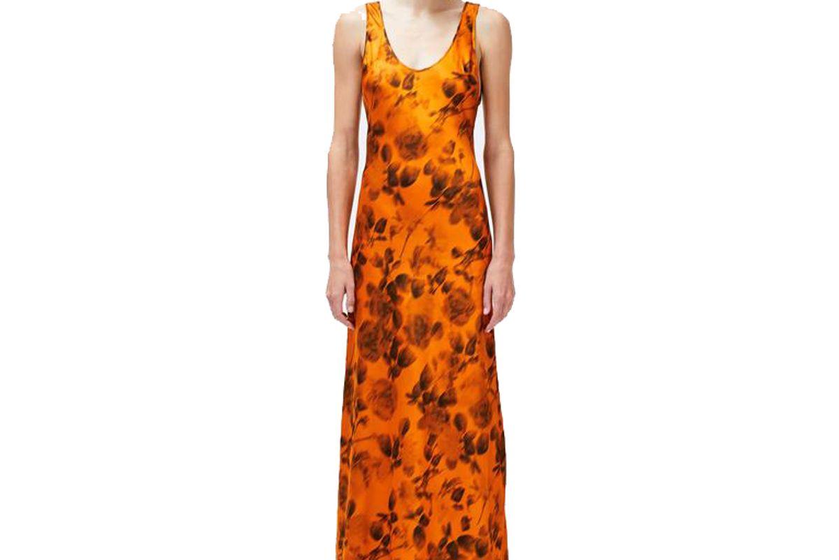 galvan burnt floral valletta dress