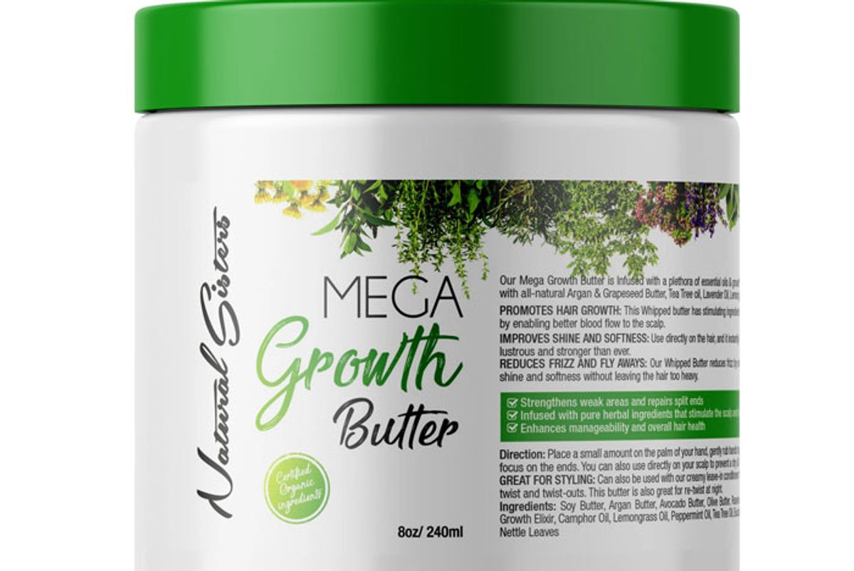 natural sisters products mega growth butter