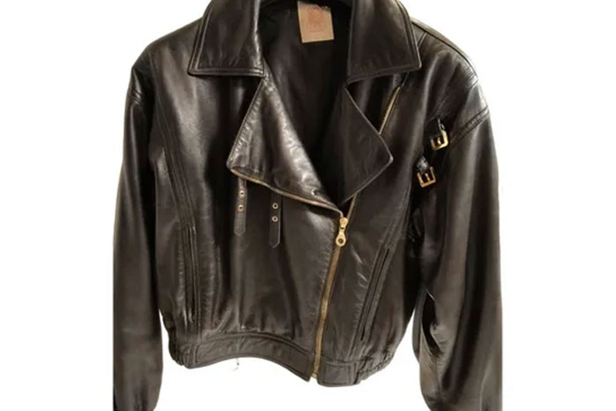 lowe leather biker jakcet