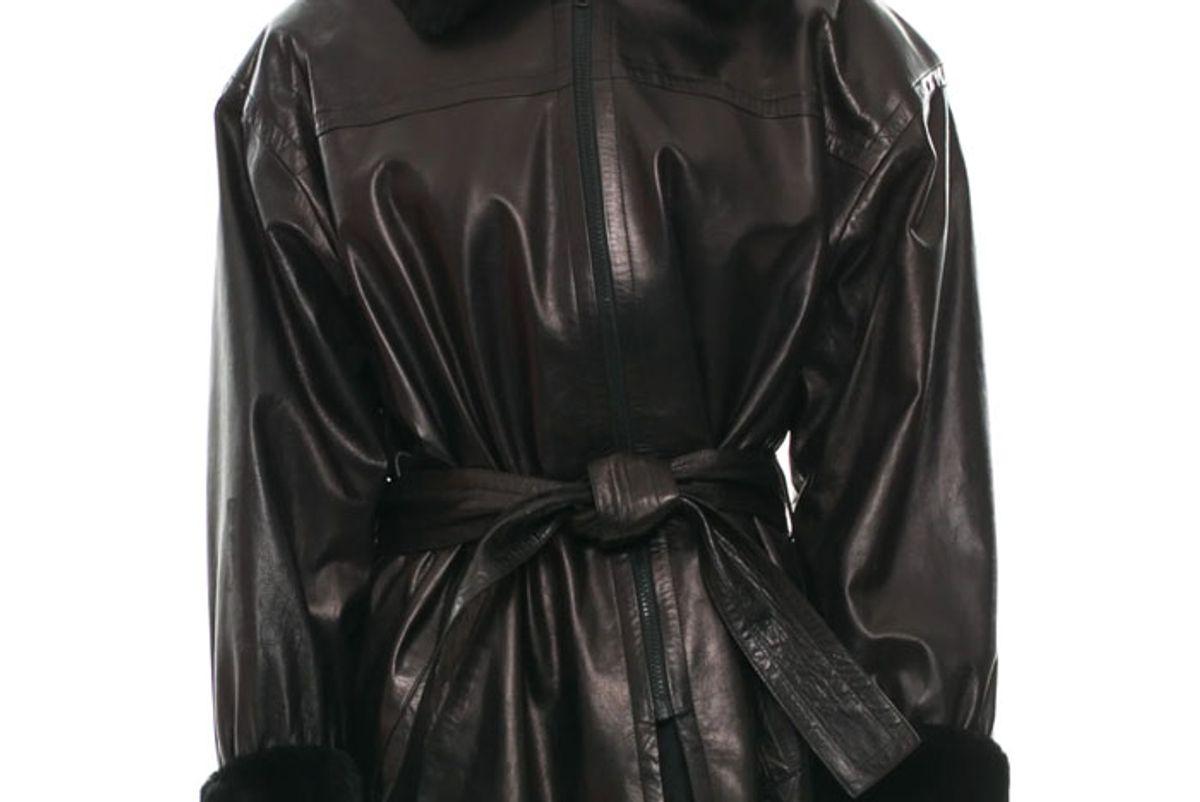 yves saint laurent vintage lamb leather jacket