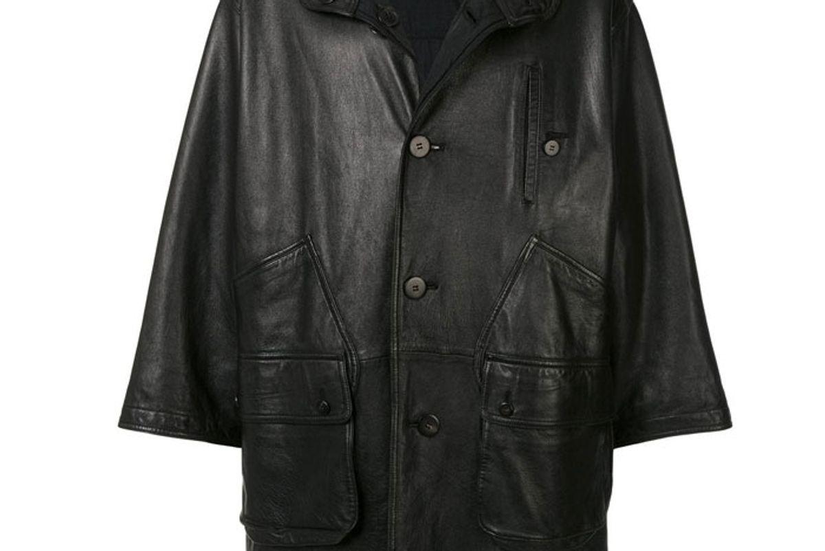 issey miyake 1980 sport line reversible leather coat