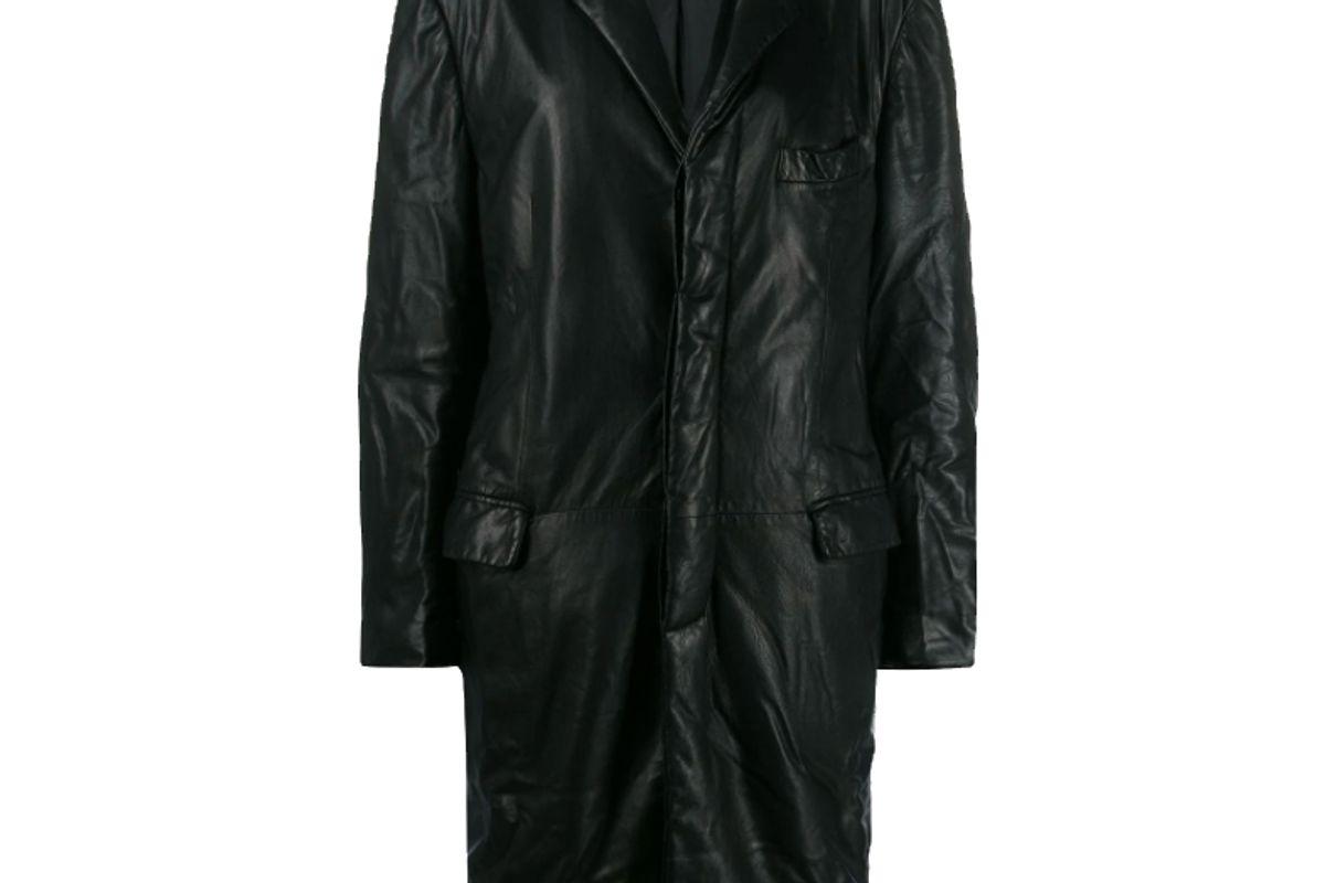 giorgio armani 1990s crinkled effect coat
