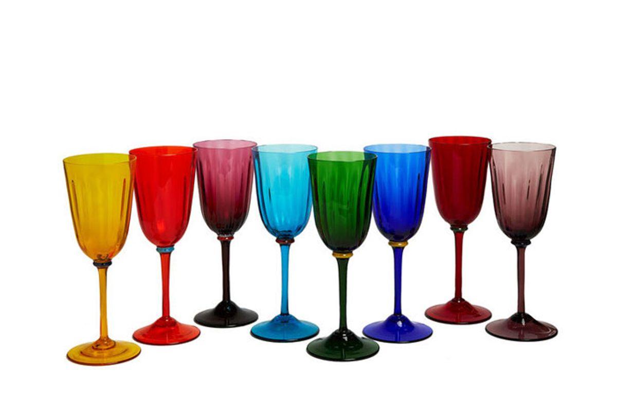 la doublej wine rainbow glasses set 8