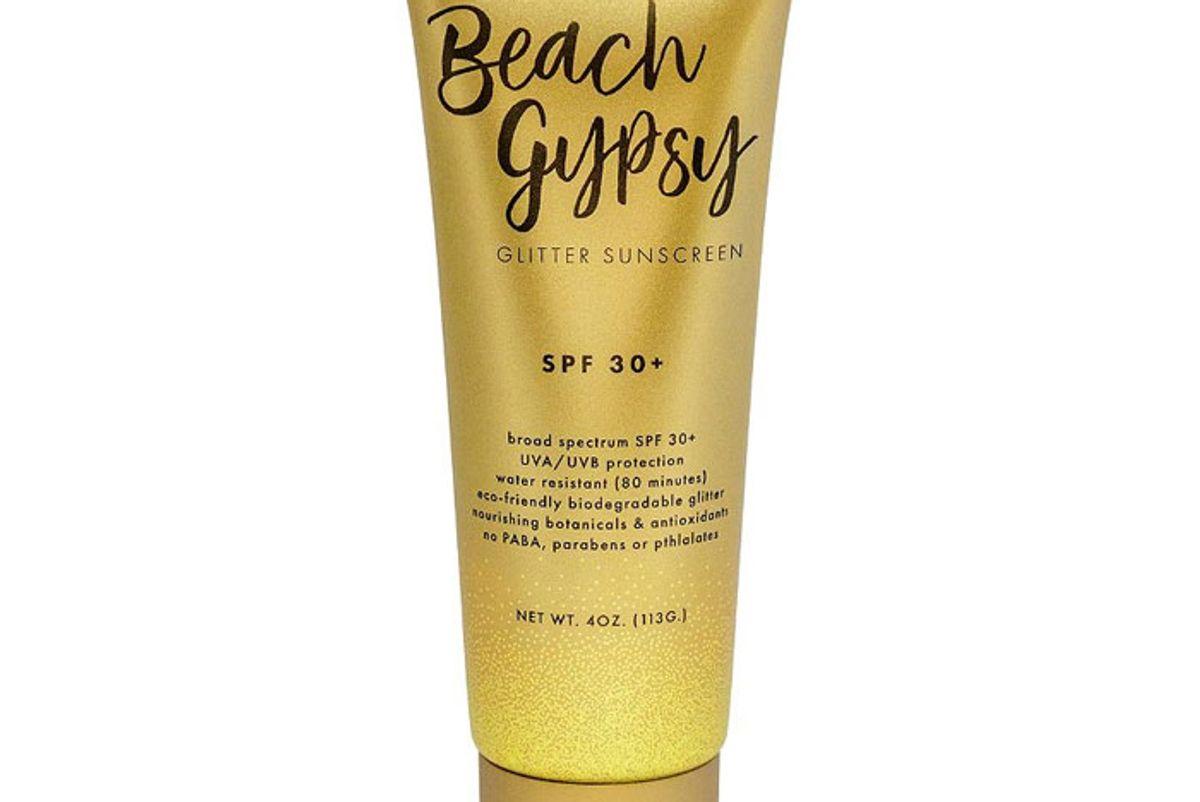 sunshine and glitter beach gypsy glitter sunscreen spf30